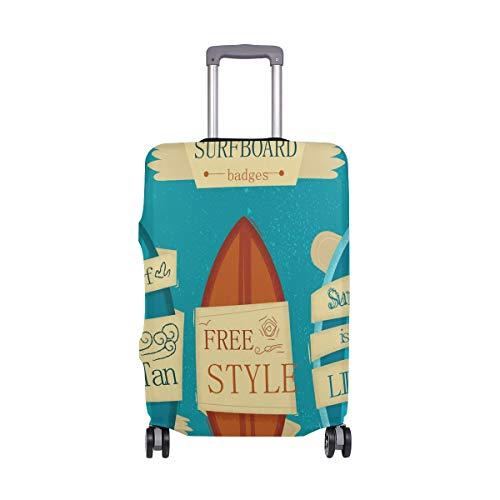 Alinlo - Valigia protettiva per bagaglio a forma di tavola da surf, adatta per bagagli da 45,7 a 81,3 cm, Multicolore (Multicolore) - sdv6464sdb72