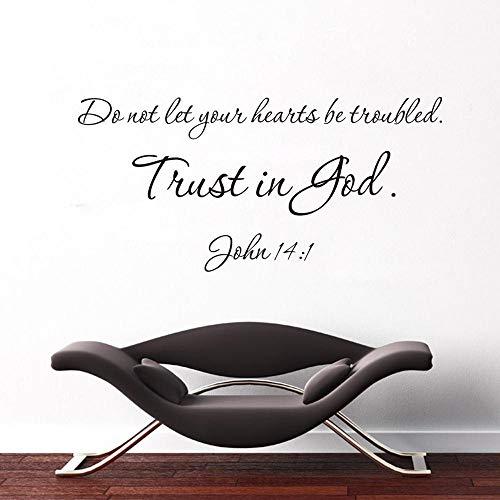 Citas de la Biblia de la verdad mundial Trust Is God calcomanía extraíble pegatinas de pared familia cristiana bendiga palabras de oración Mural Hot A4 27x57cm