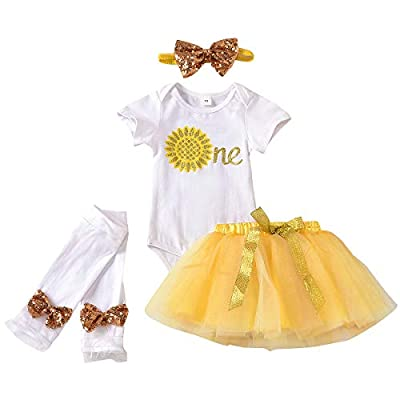 Amazon - 70% Off on Baby Girl 1st Birthday Cake Smash Outfits Romper+Tulle Skirt+Sequins