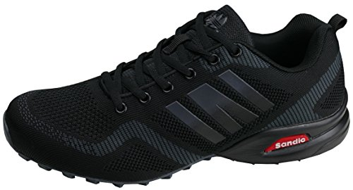 gibra® Herren Sneaker Sportschuhe, Art. 7737, sehr leicht und bequem, schwarz, Gr. 41