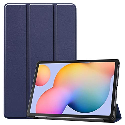 Case For Samsung Tab S6 Lite SM-P610 P615 3-Folding Stand Shell Release Smart Trifold Tablet Case For Galaxy Tab S6 Lite 10.4-P610-DarkBlue