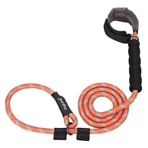 HAPPY HACHI Guinzaglio da Addestramento per Cani Nylon Corda Riflettente Lunghina 140 cm con Strozzo Collar Manico Imbottito