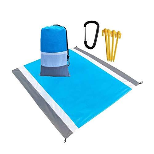 SZBLYY Alfombra Playa Manta de Picnic con Soporte Impermeable Playa a Prueba de Arena Plegable Estera Adecuada para Viajes al Aire Libre Parque de Camping Picnic Mat Camping Manta