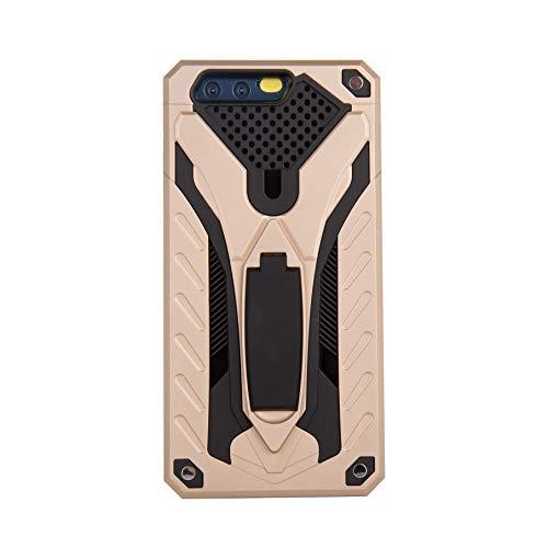 Compatible con Huawei P9 Plus / P9 Lite. Carcasa Ultrafina de Silicona TPU Suave y Resistente 2 en 1. Dorado Talla única