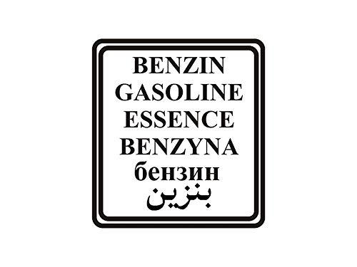 NetSpares Plott Aufkleber Benzin Gasoline Petrol Arabisch Russisch Tank Sticker Offroad