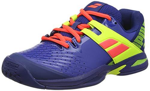 Babolat Propulse AC Junior, Scarpe da Tennis Unisex-Bambini, Blue/Fluo Aero, 36 EU