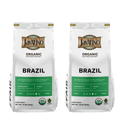 Javatino - Brazil Organic Double Pack 16 Whole Bean Manufacturer regenerated product o Free shipping on posting reviews Coffee