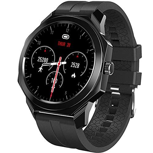 Reloj Deportivo Inteligente, Monitoreo de la Salud, Sueño de la frecuencia cardíaca, Conexión Bluetooth, Impermeable,Negro
