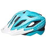 KED Street Junior MIPS - Casco para bicicleta (49-55 cm, incluye banda de seguridad RennMaxe), color turquesa y blanco mate