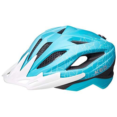 KED Street Junior MIPS - Turquoise White matt - 53-58 cm - inkl. RennMaxe Sicherheitsband - Fahrradhelm Skaterhelm MTB BMX Erwachsene Jugendliche