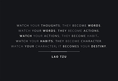 WeSellPhotos Watch Your Thoughts Quote 13x19 Poster with Black Background by Lao Tzu
