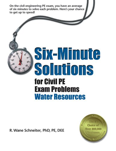 Six-Minute Solutions for Civil PE Exam Problems: Water Resources