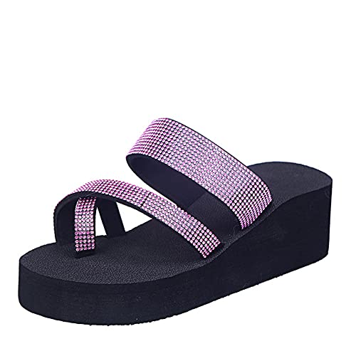 Adeliber Sandals For Women Casual Summer Outdoor Women'S Sandals Women Girls Pearl Flat Bohemian Style Casual Sandals Beach Shoes Wedges Slippers