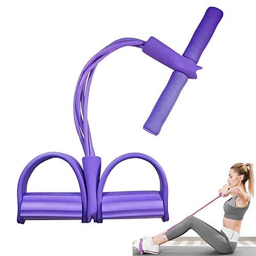 Tang Yuan Cuerda de tracción,Cuerda de Pedal,cinturón de tensión de 4 Tubos,Dispositivo Multifuncional de Entrenamiento de Ejercicios para piernas,Adecuado para el hogar,al Aire Libre,Gimnasio