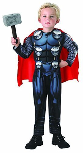 Marvel AVENGERS - ASSEMBLE ~ Thor Deluxe (Muscle Chest & Hammer) - Kids Costume New 2015 3 - 4 years by RUBBIES FRANCE