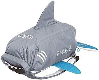 Trunki Kid's Waterproof Swim & Gym Bag – PaddlePak Finn the Shark (Grey)