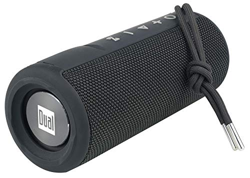 Dual Electronics LUBTWSQ12 Wireless Portable Bluetooth Speaker|TruWireless Bluetooth Stereo|Water Resistant IPX6 & Floats |360 Rich Dynamic Sound|100ft Wireless Range|15 Hour Playtime |Quick Charge