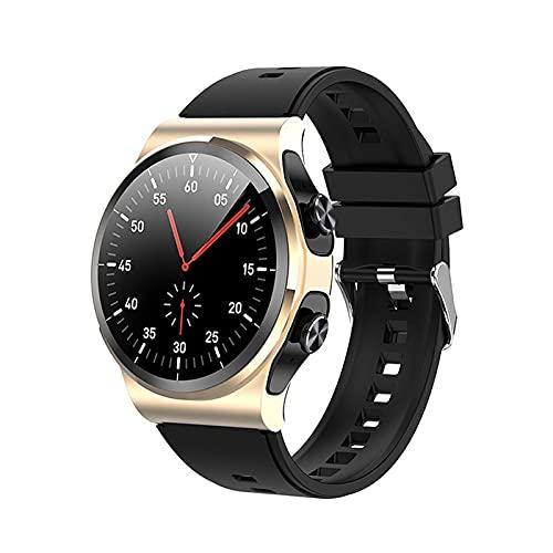 LSQ 2021 New Smart Watch 1.28 Pulgadas Hombres Mujeres Deportes SmartWatch Tasa del corazón Presión Arterial Pulsera de la Aptitud Impermeable para iOS Android,D