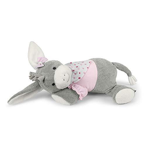 Sterntaler Schlaf-gut Figur Emmi Girl (DE 34407560) mit integriertem Herztonmodul, Alter: Für Babys ab der Geburt, 30 cm, Pink/Grau