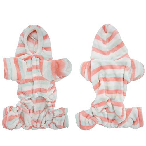DAUERHAFT Haustier Winterkleidung, Welpen warme Pyjama Kleidung, für Weihnachten Tragen für kleine bis große Hunde und Katzen(L)
