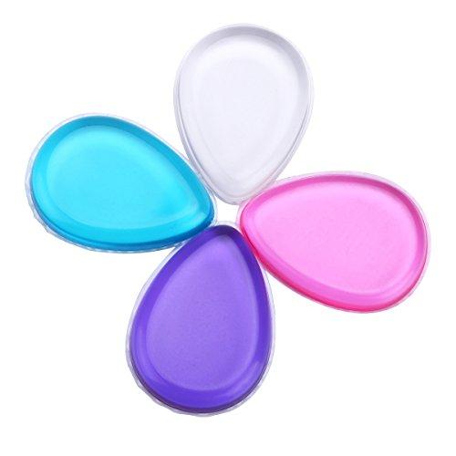 Lot de 4 couleurs Jelly Houppette Drop Coque en silicone Cosmétique éponge de maquillage pour fond de teint BB Crème Outil de maquillage