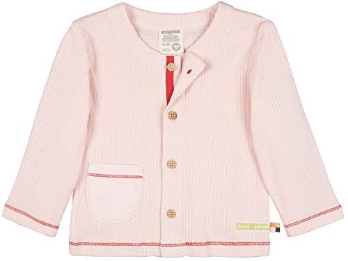 loud + proud Jacke Waffel, GOTS Zertifiziert Giacca, rosé, 86/92 cm Unisex-Bimbi
