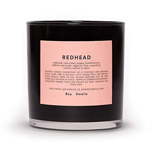 Boy Smells Redhead Candle | 50 Hour Long Burning Candles | All Natural Beeswax & Coconut Wax Candle | Luxury Scented Candles (8.5 oz)