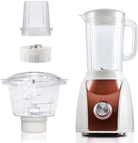 LKOER Blender multifunción 28000 RPM Fabricante de Smoothie para batido, exprimidor, Moscas de Hielo, Molinillo de café, helicóptero 350W alimento jinyang (Color : Brown)