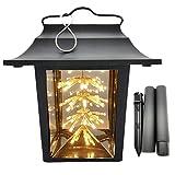 Linterna Solar Luz Led,Cadena de luces con forma de estrella, farol solar para exteriores,lámpara solar decorativa para terraza, farol de jardín IP44 resistente al agua