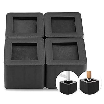4Pcs Furniture Risers Foot Pad, Stackable Squar...