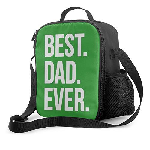 Best dad ever insulated lunch bag for women men kids,wide-open lunch tote bag with adjustable shoulder strap,reusable cooler warm lunchbox handbag