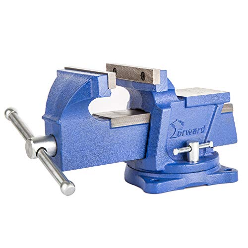 """Forward 0806 6-Inch Bench Vise with Swivel Base and Anvil (6"""")"""