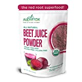 Alovitox Organic Beet Juice Powder 16 oz Raw Vegan & Gluten Free (Beet Juice Powder, 16 oz)