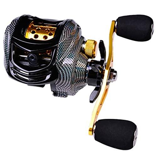 Nostalgie Carrete de Pesca 10kg MAX Drag Baitcasting Reel 17 + 1 Rodamientos de Bolas 7.2: 1 Rueda de Pesca de Fibra de Carbono de Pesca de Alta Velocidad Super Suave