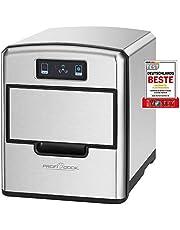 ProfiCook PC-EWB 1187 IJsblokjesmaker, sensor touch-bedieningspaneel, ijsblokjes beschikbaar na enkele minuten, 3 maten ijsblokjes, hoogwaardige roestvrijstalen behuizing