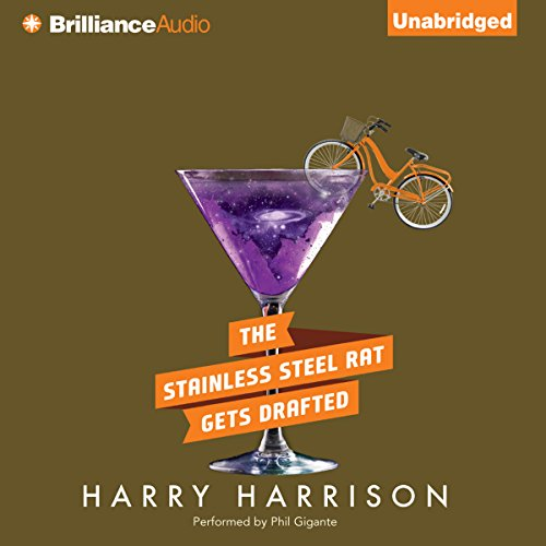 The Stainless Steel Rat Gets Drafted     Stainless Steel Rat, Book 7              By:                                                                                                                                 Harry Harrison                               Narrated by:                                                                                                                                 Phil Gigante                      Length: 8 hrs and 21 mins     48 ratings     Overall 4.6