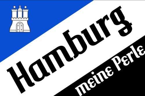 Fahne / Flagge Hamburg Meine Perle Wappen 90 x 150 cm