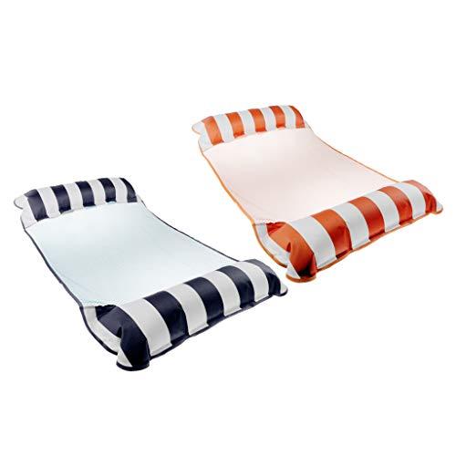 SM SunniMix Paquete de 2 Hamacas de Agua de Verano Naranja No Tóxico + Azul Marino para Vacaciones de Natación