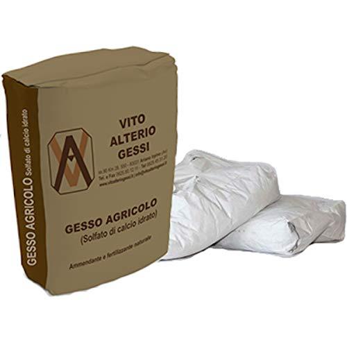 xx Gesso Agricolo Triturato BIO Solfato di Calcio idrato essiccato 30 kg