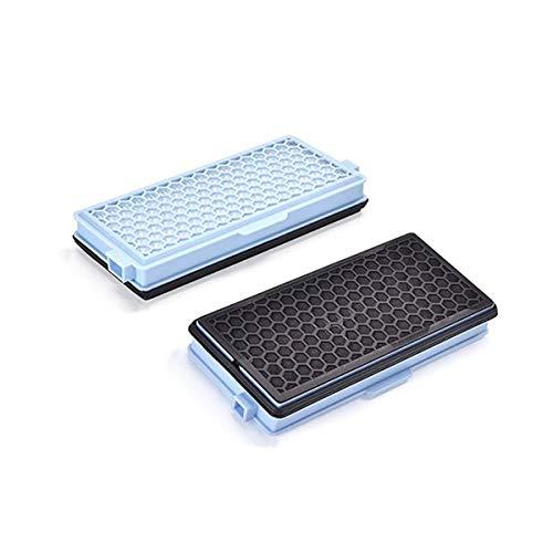 2x CleanMonster HEPA Filter komp. zu Miele SF-HA 50 Staubsaugerfilter mit Aktivkohle gegen Gerüche + 5 Motorfilter für S8000 S6000 S5000 S4000 Serien Complete C2 C3 Compact C1 C2 S8340 S6240 S5211