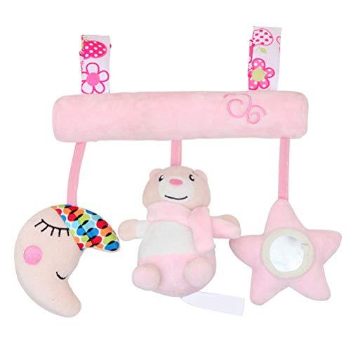 WBTY Baby-Spielzeug, Kinderwagenspielzeug, bunter Bär, Kinderwagenspielzeug, waschbar, zum Aufhängen, Spielzeug für Kinderbett mit Beißring