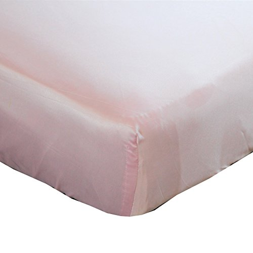 Baby Pink Cloud Satin Fitted Crib Sheet - Fits Standard Crib Mattresses and Daybeds