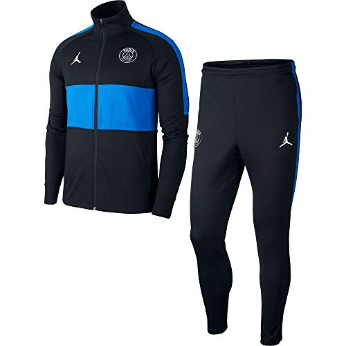 Nike Herren Paris Saint-Germain Strike Trainingsanzug, Black/Black/Hyper Cobalt/White, XL