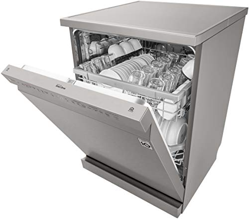 LG 14 Place Settings Wi - Fi Dishwasher (DFB424FP, Silver, Silent Operation, Tough Stain Removal, Adjustable racks )