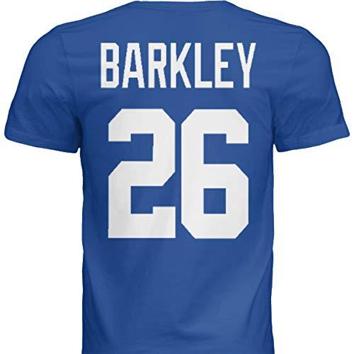 Hall of Fame Sports Memorabilia NWT New Barkley #26 New York Blue Custom Screen Printed Football T-Shirt Jersey No Brands/Logos Men's (Medium)