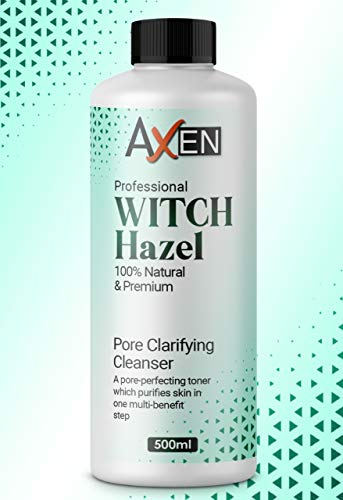 Distilled Witch Hazel Liquid 500ml - Pure, Natural, Cruelty Free, Vegan - Cleansing & Toning - Ideal for Aromatherapy, Skincare and DIY Beauty Recipes