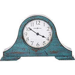 Howard Miller Tamson Mantel Clock 635-181 – Worn Teal Blue with Quartz Movement