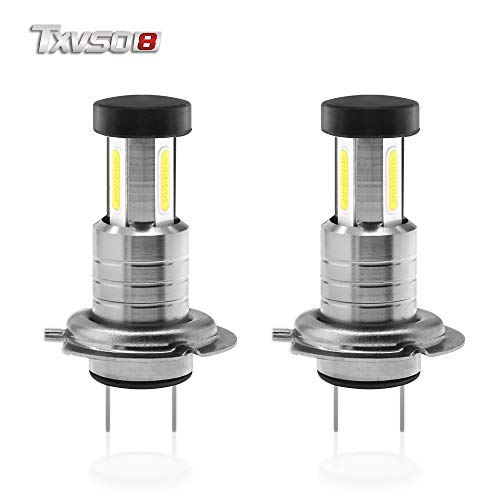 TXVSO8 H7 LED Headlight Bulbs All In One Model 6000 K Cool White 55W Headlight Conversion Kit (A Pair)