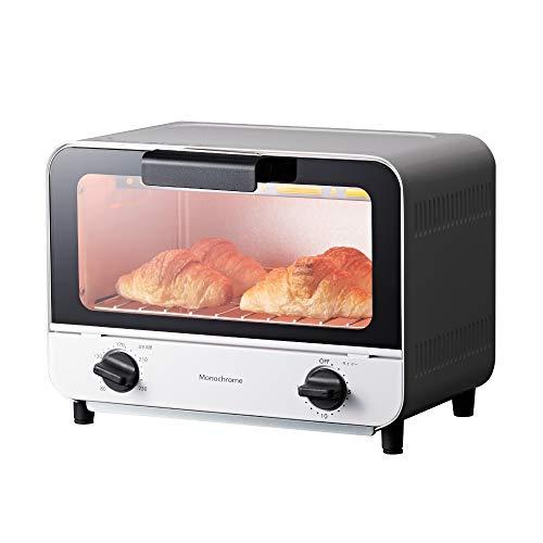 コイズミ オーブントースター 800W ホワイト KOS-0870/W モノクローム [Amazon限定ブランド]