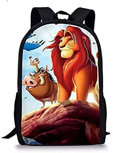 XWXBB 3D Anime Print RucksackSchultascheKinder Schulrucksack Der König der Löwen Muster Schulbuch Taschen Cartoon Little Animal Set Studenten Taschen